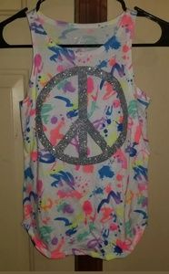 Justice Girls Peace Sign Tank